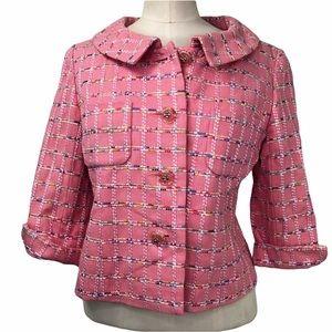 Clathas pink tweed blazer. Size 38